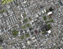 Miasto odgórny widok Fotografia Royalty Free