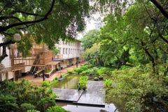 Miasto ogród przy Greenbelt Makati, Filipiny obraz royalty free
