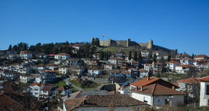 Miasto Ohrid przy Ohrid jeziorem Obrazy Stock