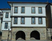 Miasto Ohrid - Starzy domy Zdjęcia Royalty Free