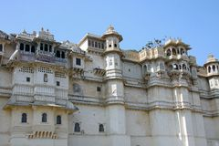 Miasto pałac w Udaipur, India zdjęcia stock