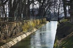 Miasto park w Bihac zgadzający się terenu teren kartografuje ważny ścieżki ulga cieniącego stan otaczający terytorium miastowa ro Obrazy Royalty Free