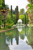 Miasto park w Nowym Athos Lipiec zdjęcie stock