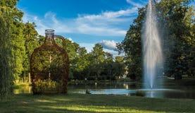Miasto park W Złym Homburg Hesse Zdjęcia Stock