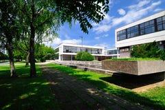 Miasto park z budynkiem miasto biblioteka Zdjęcia Stock