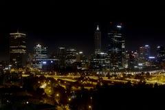 Miasto Perth linii horyzontu noc Perth Australia ładny Obraz Stock