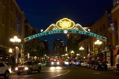 miasto piękna noc Zdjęcia Royalty Free