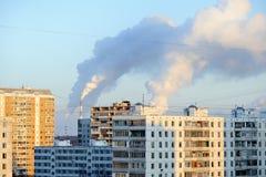 miasto piszczy dymienie Zdjęcie Stock