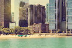 Miasto plaża obrazy royalty free