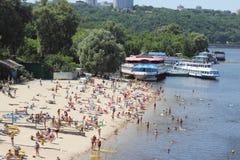 Miasto plaża sezon Fotografia Royalty Free