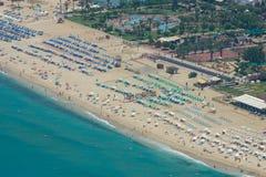 Miasto plaża w Alanya Zdjęcia Stock
