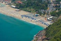 Miasto plaża w Alanya Obraz Royalty Free
