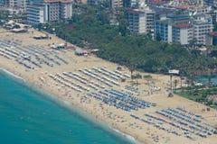 Miasto plaża w Alanya Obrazy Royalty Free