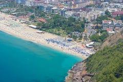 Miasto plaża w Alanya Zdjęcie Stock