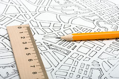 miasto plan Zdjęcie Stock