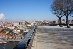 Miasto Porto w Portugalia od Serra robi Pilar punktowi widzenia Zdjęcia Stock