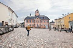 Miasto Porvoo. Urząd miasta zdjęcie stock