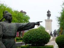 Miasto postaci rzeźba Zdjęcia Royalty Free
