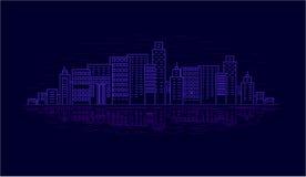 Miasto przy nocą Obraz Royalty Free