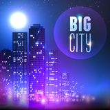 Miasto przy nocą royalty ilustracja