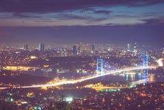 Miasto przy nocą Obrazy Royalty Free