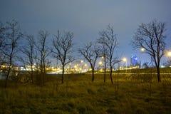 Miasto przy nocą Obrazy Stock