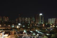 Miasto przy nocą fotografia royalty free
