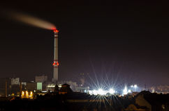 Miasto przy nocą Fotografia Stock