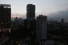 Miasto przy półmrokiem Zdjęcia Royalty Free