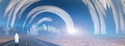 Miasto przyszłość royalty ilustracja