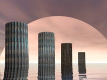 miasto przyszłość Obraz Royalty Free