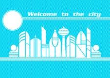 miasto przyszłości zlokalizowane w naszym zastępuje domy kuli gwożdżą ich reprezentacji Zdjęcia Stock
