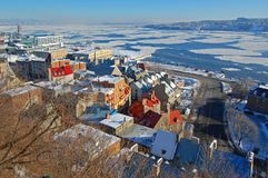 miasto Quebec rzeki st Lawrence Obrazy Royalty Free