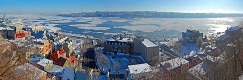 miasto Quebec rzeki st Lawrence Zdjęcie Stock