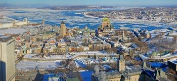 miasto Quebec rzeki st Lawrence Fotografia Stock