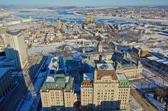 miasto Quebec rzeki st Lawrence Obrazy Stock