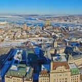 miasto Quebec rzeki st Lawrence Zdjęcie Royalty Free