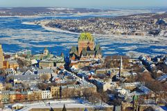 miasto Quebec rzeki st Lawrence Zdjęcia Stock