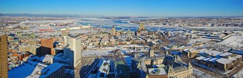 miasto Quebec rzeki st Lawrence Zdjęcia Royalty Free
