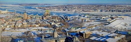 miasto Quebec rzeki st Lawrence Obraz Stock