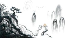 Miasto rodzinne atramentu wymarzony obraz ilustracja wektor