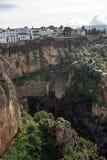 Miasto Ronda w Hiszpańskiej prowincji Malaga w Andalusia Piękny widok góry obserwacja pokład i dolina, obrazy stock