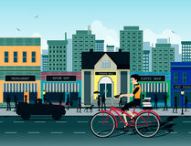 Miasto rower Obraz Royalty Free