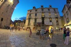 Miasto Rozszczepiający w Chorwacja Obraz Royalty Free