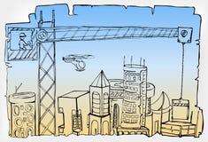 miasto rozwój Zdjęcia Royalty Free