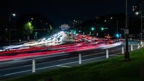 Miasto ruch drogowy przy noc? na autostradzie Czasu up?yw zdjęcie wideo