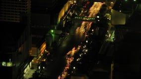 Miasto ruchu drogowego czasu upływu zoom 3 zbiory wideo