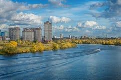 miasto rzeka nowa stara Obrazy Royalty Free