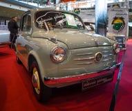 Miasto samochodowy Fiat 600, 1956 Fotografia Stock