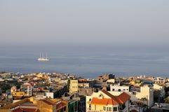 Miasto Sao Filipe pod mgiełką Obrazy Royalty Free